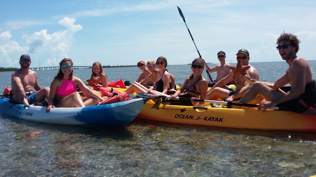 kayak tour group
